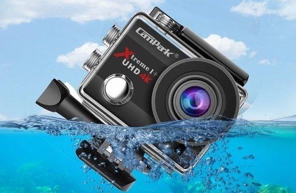 экшен камера и брызги воды