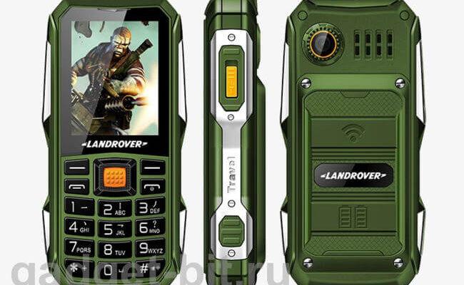 кнопочный телефон с мощной батареей Land Rover F9 2.0