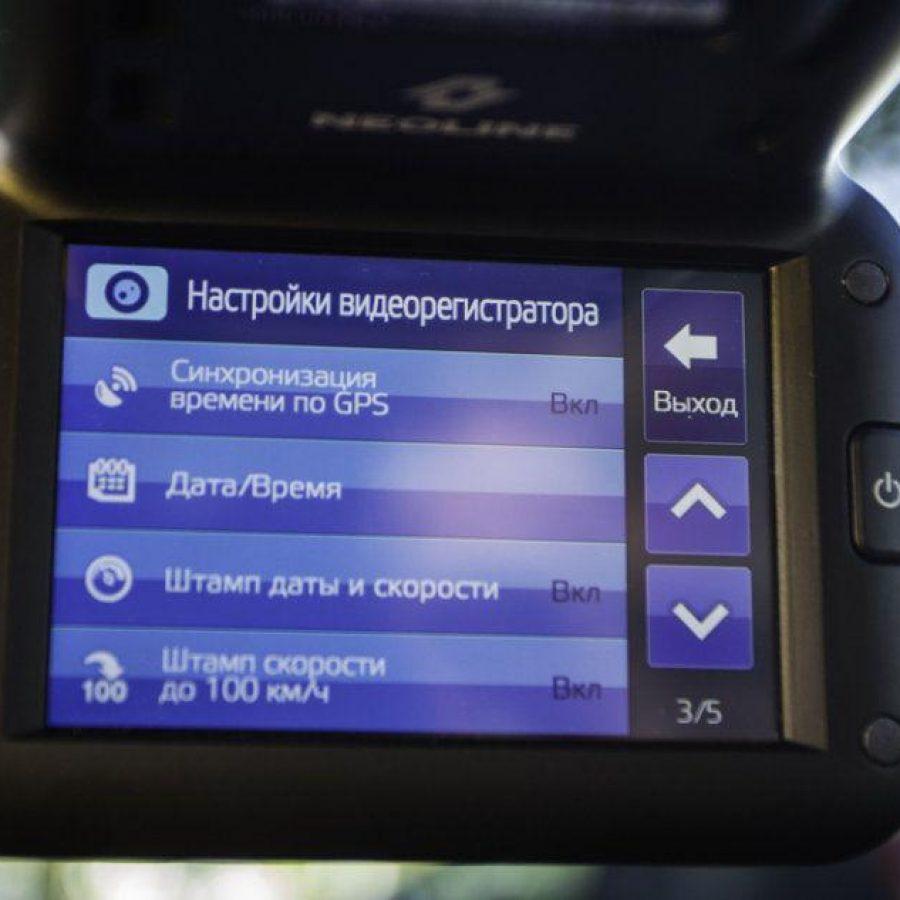 Настройка даты и времени в видеорегистраторе