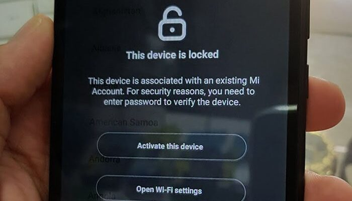 This device is locked Xiaomi